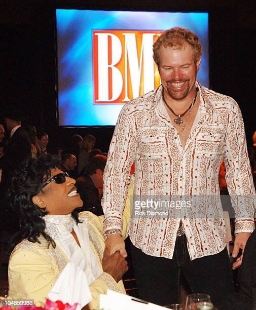 Little Richard and Toby Keith during 53rd Annual BMI Country Music Awards at BMI Nashville Offices in Nashville Tennessee United States