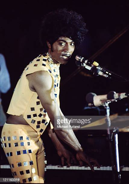 Little Richard performs at London Rock'n'Roll show Wembley Stadium London 5th August 1972