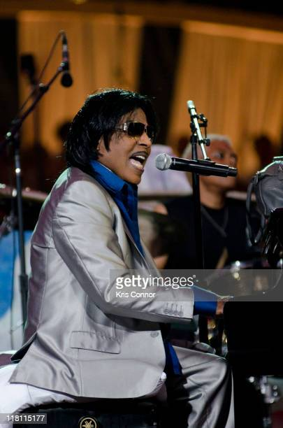 Little Richard performs during the annual PBS 'A Capitol Fourth' concert at the US Capitol on July 3 2011 in Washington DC