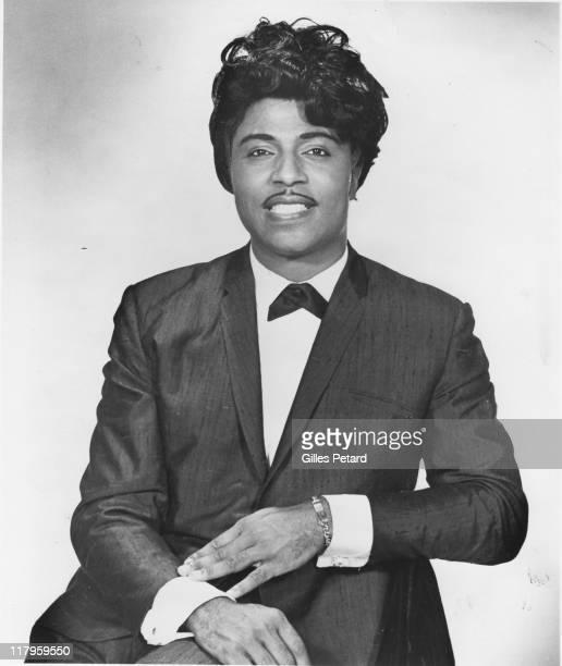 Little Richard poses for a studio portrait USA 1965