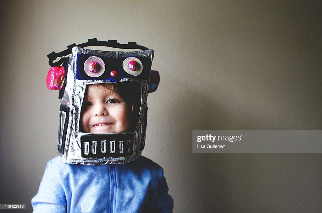 Little Robot Kid : Stock Photo