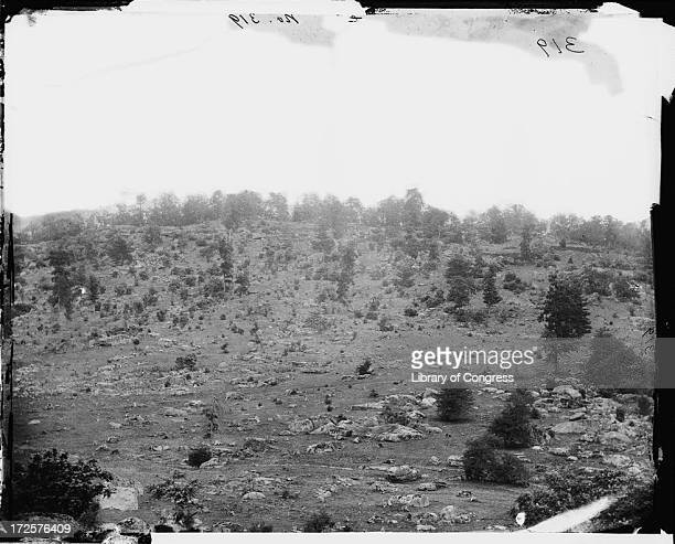 Little Round Top in Gettysburg Pennsylvania at the time of the Battle of Gettysburg July 1863