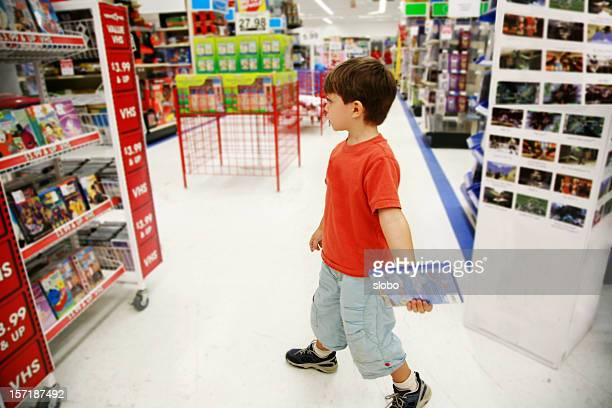 Little Shopper in Toy Store