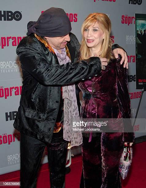 'Little' Steve Van Zandt and Maureen Van Zandt during 'The Sopranos' Sixth Season New York City Premiere Arrivals at MoMA 53rd Street in New York...