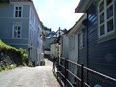 Little street in Bergen