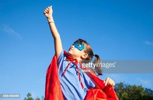 Little superhero girl