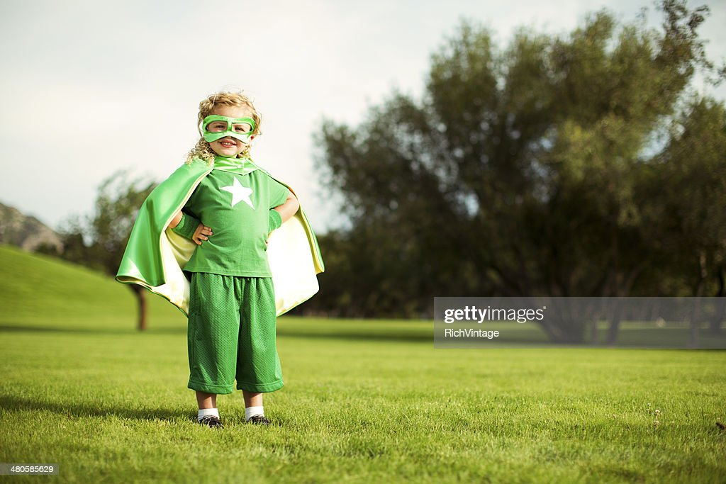 Little Superhero : Stock Photo