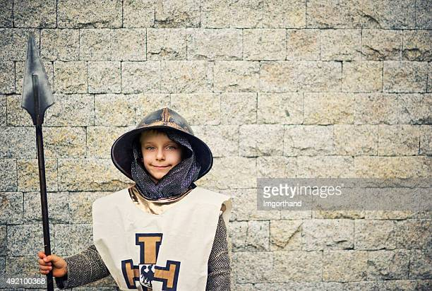 Little teutonic city guard guaring the castle