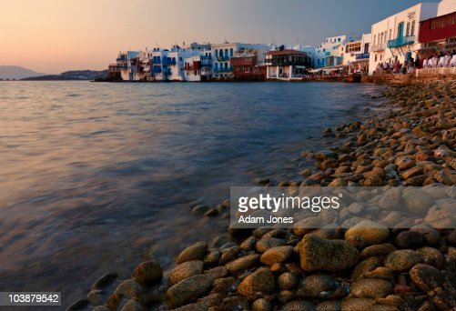 Little Venice and beach at sunset : Stock Photo