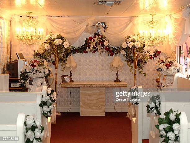 A Little White Wedding Chapel Home Of The World Famous Driveup Window Interior Where