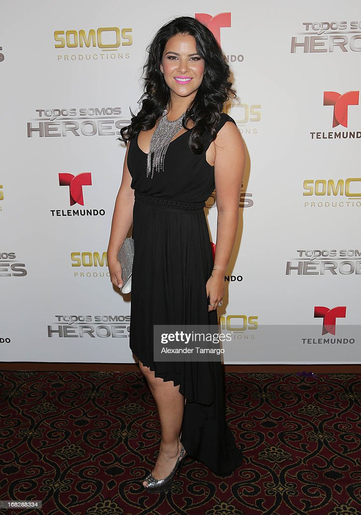 Litzy attends Telemundo's Todos Somos Heroes Gala on May 7, 2013 in Miami, Florida.