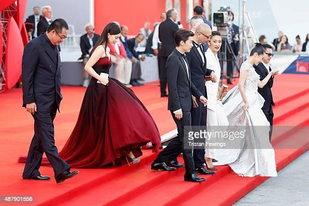 Liu Hua Zhang Yuxian Li Yifeng Guan Hu Jing Liang Xu Qing and guest attend the closing ceremony and premiere of 'Lao Pao Er' during the 72nd Venice...