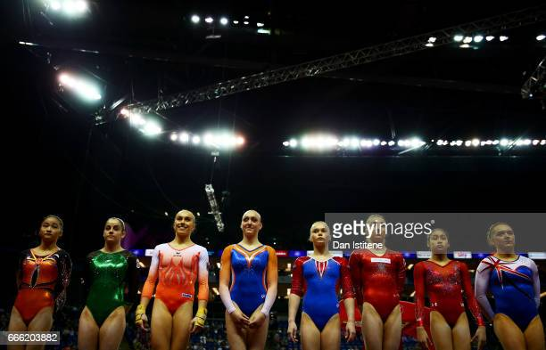 Liu Jinru of China Ana Perez of Spain Tabea Alt of Germany Tisha Volleman of the Netherlands Angelina Melnikova of Russia Ilaria Kaeslin of...