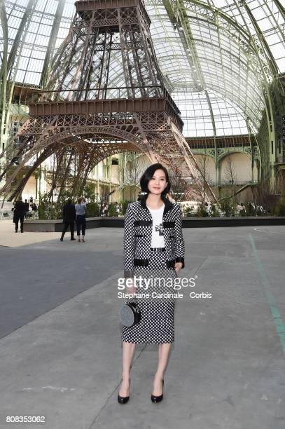 Liu Shi Shi attends the Chanel Haute Couture Fall/Winter 20172018 show as part of Haute Couture Paris Fashion Week on July 4 2017 in Paris France
