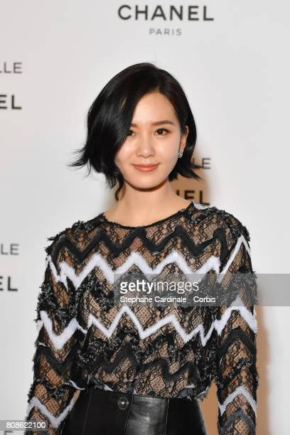 Liu Shi Shi attends the launch party for Chanel's new perfume 'Gabrielle' as part of Paris Fashion Week on July 4 2017 in Paris France