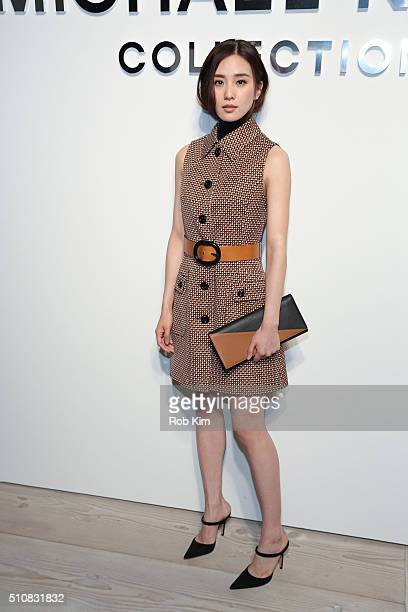 Liu Shishi aka Cecilia Liu attends the Michael Kors show during Fall 2016 New York Fashion Week The Shows at Spring Studios on February 17 2016 in...