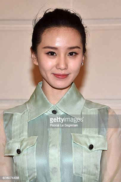 Liu Shishi attends 'Chanel Collection des Metiers d'Art 2016/17 Paris Cosmopolite' Show on December 6 2016 in Paris France