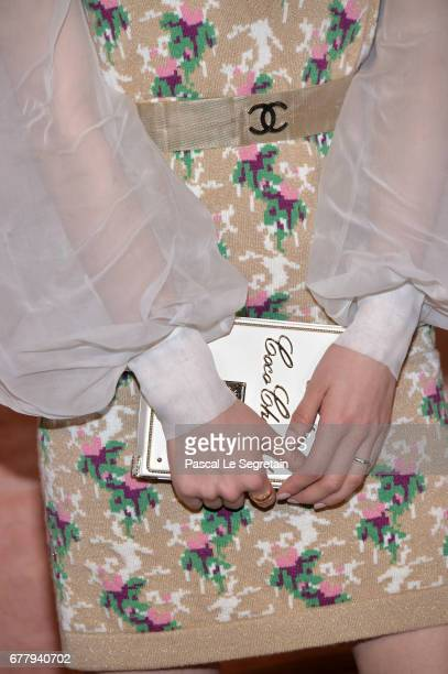 Liu Shishidetail attends the Photocall of the 'Chanel Cruise 2017/2018 Collection' at Grand Palais on May 3 2017 in Paris France