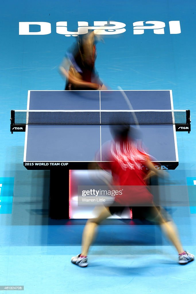 <a gi-track='captionPersonalityLinkClicked' href=/galleries/search?phrase=Liu+Shiwen+-+Table+Tennis+Player&family=editorial&specificpeople=2267824 ng-click='$event.stopPropagation()'>Liu Shiwen</a> of China in action against Mi Gyong Ri North Korea during the Women's Final of the 2015 ITTF World Team Cup at Al Nasr Sports Stadium on January 11, 2015 in Dubai, United Arab Emirates.