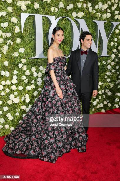 Liu Wen and Zac Posen attend the 2017 Tony Awards at Radio City Music Hall on June 11 2017 in New York City