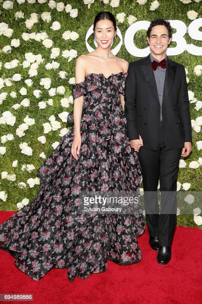 Liu Wen and Zac Posen attends the 2017 Tony Awards at Radio City Music Hall on June 11 2017 in New York City