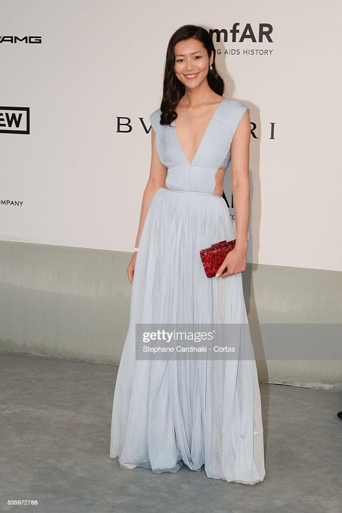 Liu Wen at the amfAR's 21st Cinema Against AIDS Gala at Hotel du Cap-Eden-Roc during the 67th Cannes Film Festival