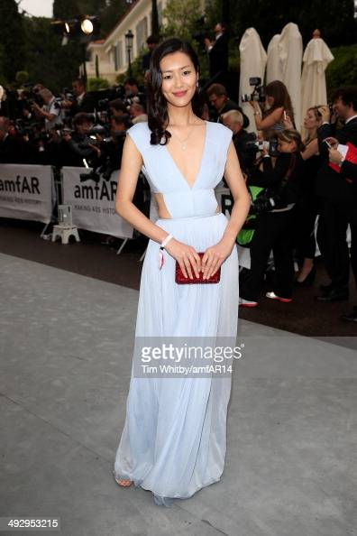 Liu Wen attends amfAR's 21st Cinema Against AIDS Gala Presented By WORLDVIEW BOLD FILMS And BVLGARI at Hotel du CapEdenRoc on May 22 2014 in Cap...