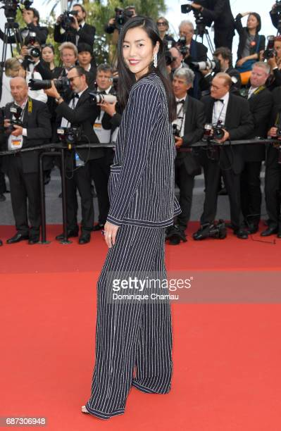 Liu Wen attends the 70th Anniversary screening during the 70th annual Cannes Film Festival at Palais des Festivals on May 23 2017 in Cannes France