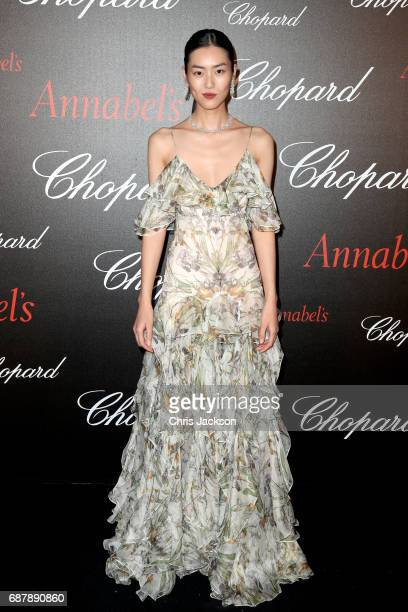 Liu Wen attends the Annabel's Chopard Party during the 70th annual Cannes Film Festival at Martinez Hotel on May 24 2017 in Cannes France
