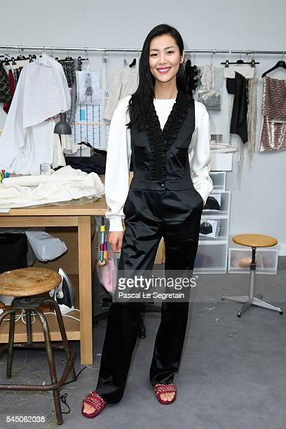 Liu Wen attends the Chanel Haute Couture Fall/Winter 20162017 show as part of Paris Fashion Week on July 5 2016 in Paris France
