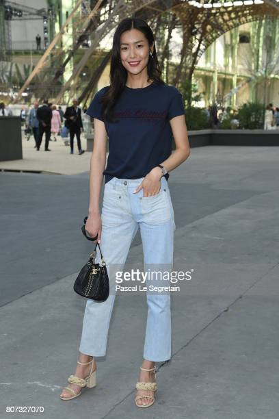 Liu Wen attends the Chanel Haute Couture Fall/Winter 20172018 show as part of Haute Couture Paris Fashion Week on July 4 2017 in Paris France