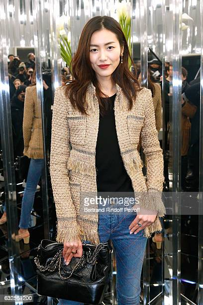 Liu Wen attends the Chanel Haute Couture Spring Summer 2017 show as part of Paris Fashion Week on January 24 2017 in Paris France