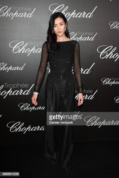 Liu Wen attends the Chopard Trophy photocall at Hotel Martinez on May 22 2017 in Cannes France