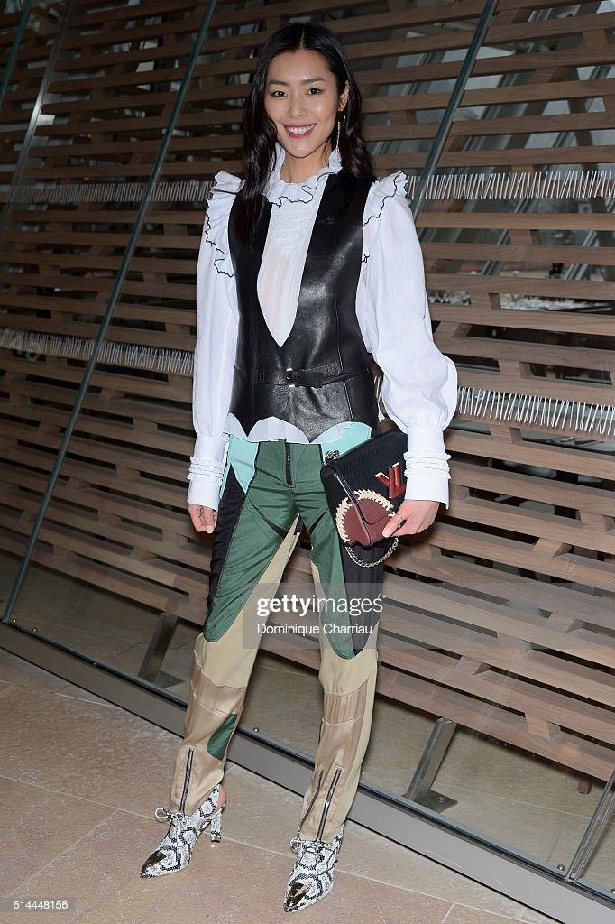 Liu Wen attends the Louis Vuitton show as part of the Paris Fashion Week Womenswear Fall/Winter 2016/2017 on March 9, 2016 in Paris, France.