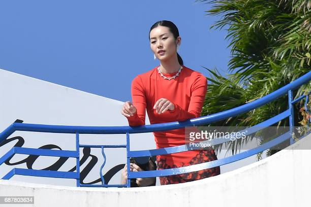 Liu Wen is spotted during the 70th annual Cannes Film Festival at on May 24 2017 in Cannes France