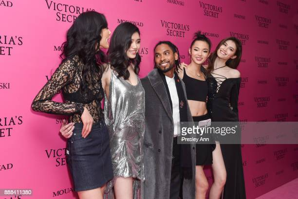 Liu Wen Ming Xi Miguel Xiao Wen and Sui He attend 2017 Victoria's Secret Fashion Show In Shanghai After Party at MercedesBenz Arena on November 20...