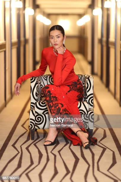 Liu Wen poses before the 'The Merciless ' screening during the 70th annual Cannes Film Festival at Palais des Festivals on May 24 2017 in Cannes...