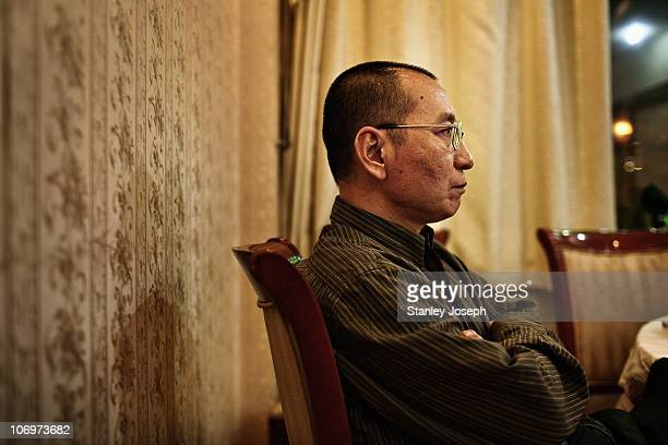 Liu Xiaobo poses for a photo at a restaurant in an undisclosed location April 25 2008 in Beijing China Liu Xiaobo is the 2010 recipient of the Nobel...