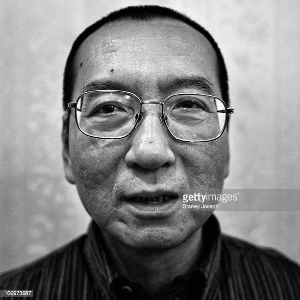 Liu Xiaobo sits in a restaurant in an undisclosed location April 25 2008 in Beijing ChinaLiu Xiaobo is the 2010 recipient of the Nobel Peace Prize He...