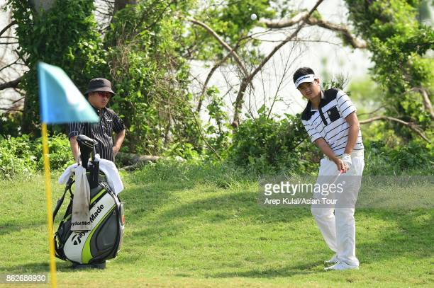 Liu Yan Wei of China pictured during the ProAM tournament ahead of Macao Open 2017 at Macau Golf and Country Club on October 18 2017 in Macau Macau