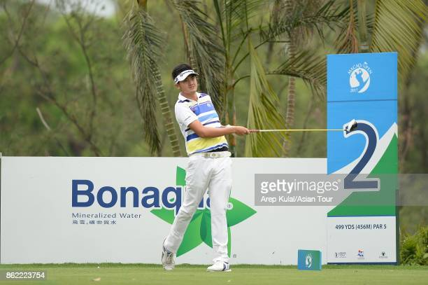 Liu Yanwei of China pictured during practice ahead of the Macao Open at Macau Golf and Country Club on October 17 2017 in Macau Macau