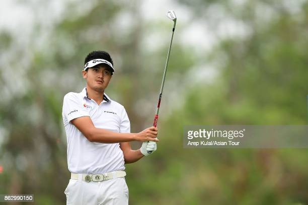 Liu Yanwei of China pictured during the first round of the Macao Open 2017 at Macau Golf and Country Club on October 19 2017 in Macau Macau