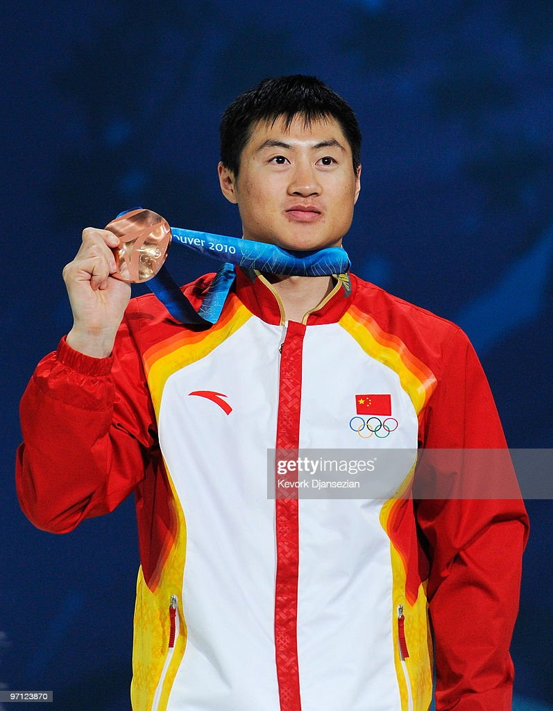 <a gi-track='captionPersonalityLinkClicked' href=/galleries/search?phrase=Liu+Zhongqing&family=editorial&specificpeople=4132720 ng-click='$event.stopPropagation()'>Liu Zhongqing</a> of China celebrates winning the bronze medal during the medal ceremony for the men�s freestyle skiing aerials on day 15 of the Vancouver 2010 Winter Olympics at BC Place on February 26, 2010 in Vancouver, Canada.