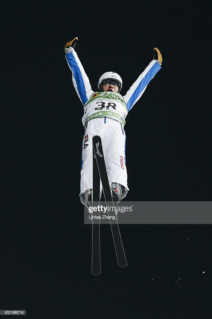 <a gi-track='captionPersonalityLinkClicked' href=/galleries/search?phrase=Liu+Zhongqing&family=editorial&specificpeople=4132720 ng-click='$event.stopPropagation()'>Liu Zhongqing</a> of China competes in the Team Aerials Final match on day two of the 2015-2016 FIS Freestyle Ski Aerials World Cup at Beijing National Stadium on December 20, 2015 in Beijing, China.