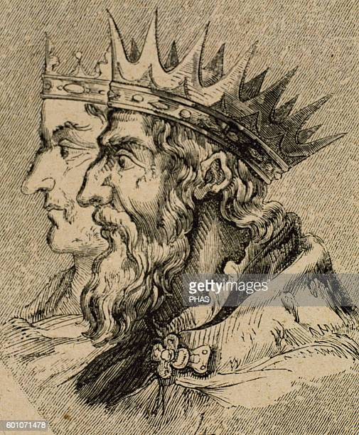 Liuvigild Visigothic King of Hispania and Septimania from 568 585 From 585 he was also king of Galicia Portrait Engraving