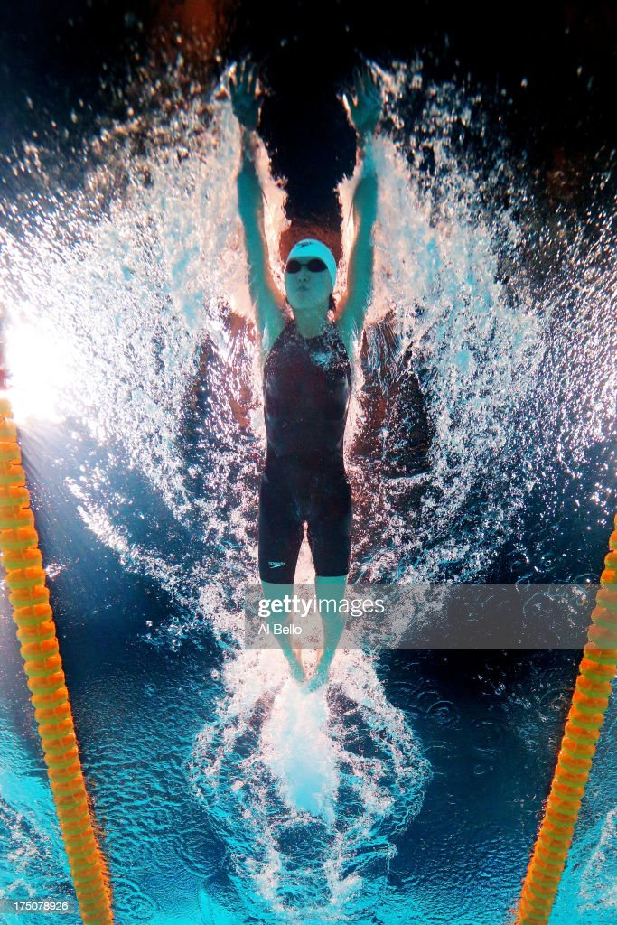 Liuyang Jiao of China competes during the Swimming Women's 200m Butterfly heat 3 on day twelve of the 15th FINA World Championships at Palau Sant Jordi on July 31, 2013 in Barcelona, Spain.