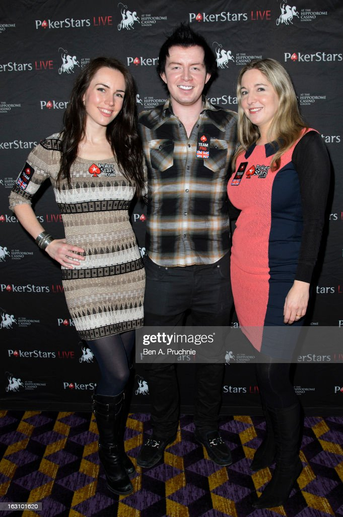 Liv Boeree, , Jake Cody and Victoria Coren attends the launch of The PokerStars LIVE Lounge at The Hippodrome Casino London on March 4, 2013 in London, England