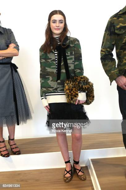 Liv Freundlich poses during the JCrew presentation at New York Fashion Week at Spring Studios on February 12 2017 in New York City
