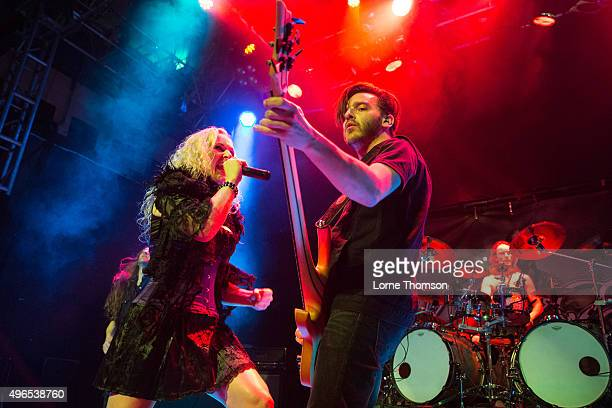 Liv Kristine of Leaves' Eyes performs at O2 Academy Islington on November 10 2015 in London England