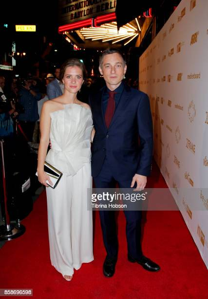 Liv Lisa Fries and Volker Bruch attend the oremiere Of Beta Film's 'Babylon Berlin' at The Theatre at Ace Hotel on October 6 2017 in Los Angeles...